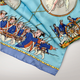 This scarf is offered exclusively in the American Revolution Institute Shop.