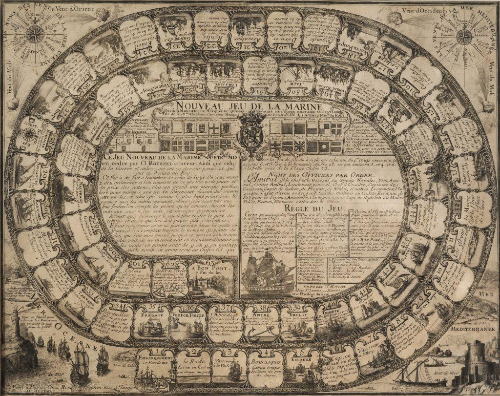 Nouveau Jeu de la Marine Dédié à Monsieur les Marquis du Quesne, 1719