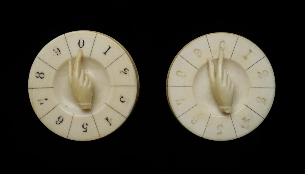 Pair of whist counters, early 19th century
