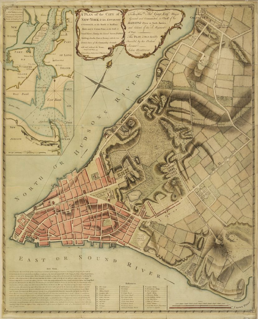 A Plan of the City of New-York & its Environs, 1775