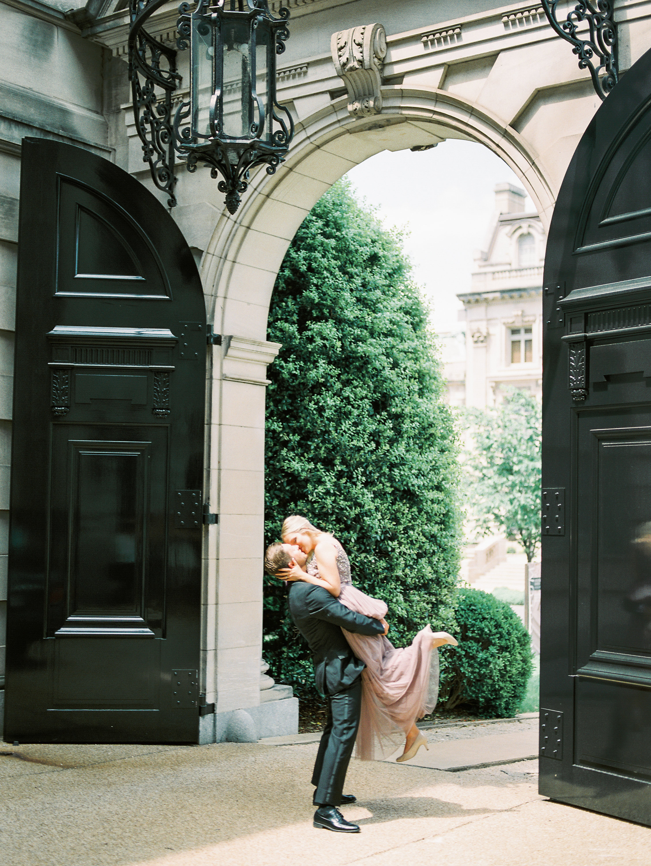 <h2>Engagement shoot at our massive entrance gate</h2>Photo by Kir Tuben. Sincerely Pete Events, planner.