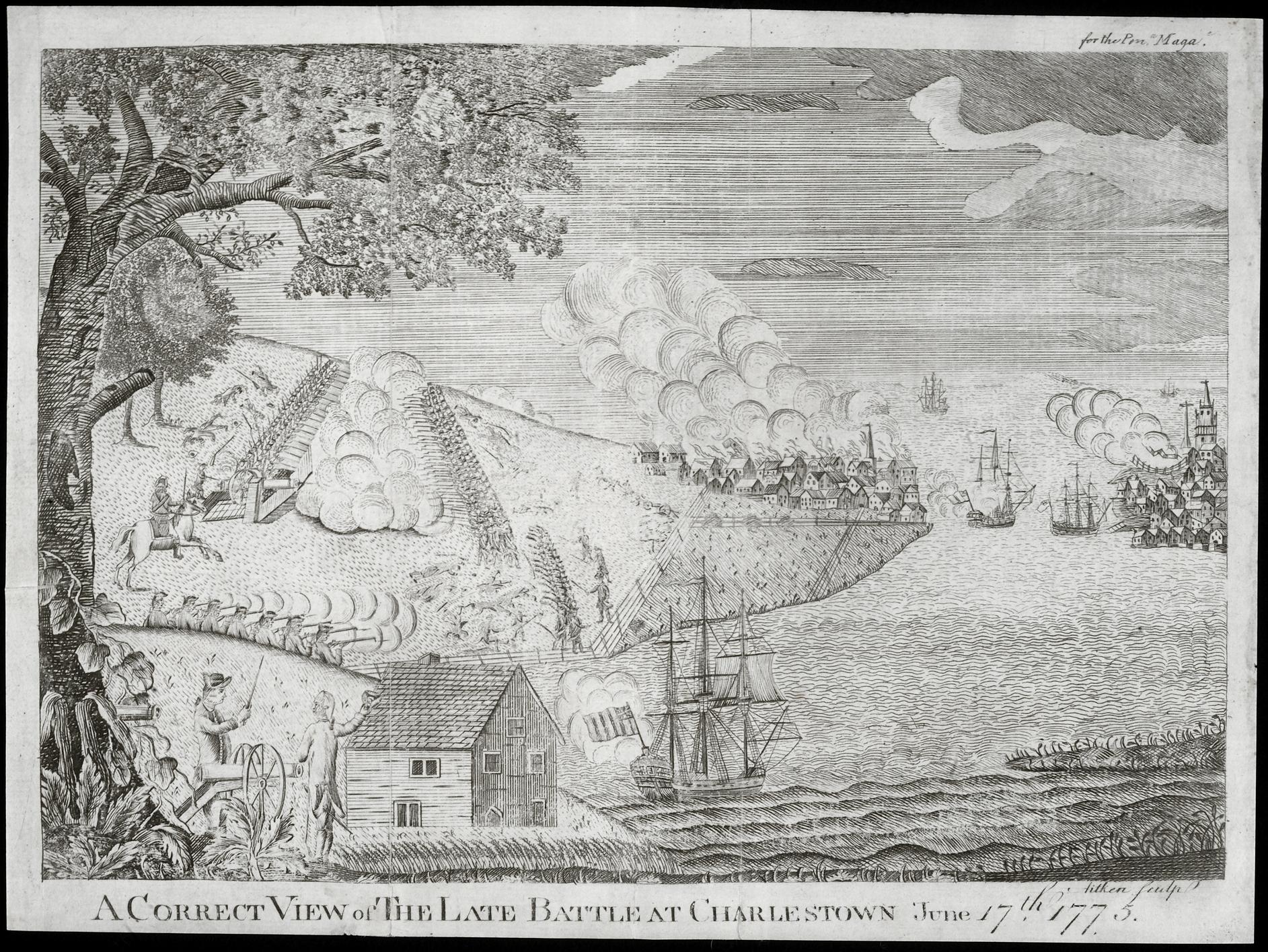 A Correct View of The Late Battle at Charlestown June 17th. 1775, Robert Aitken, Philadelphia: Robert Aitken, 1775