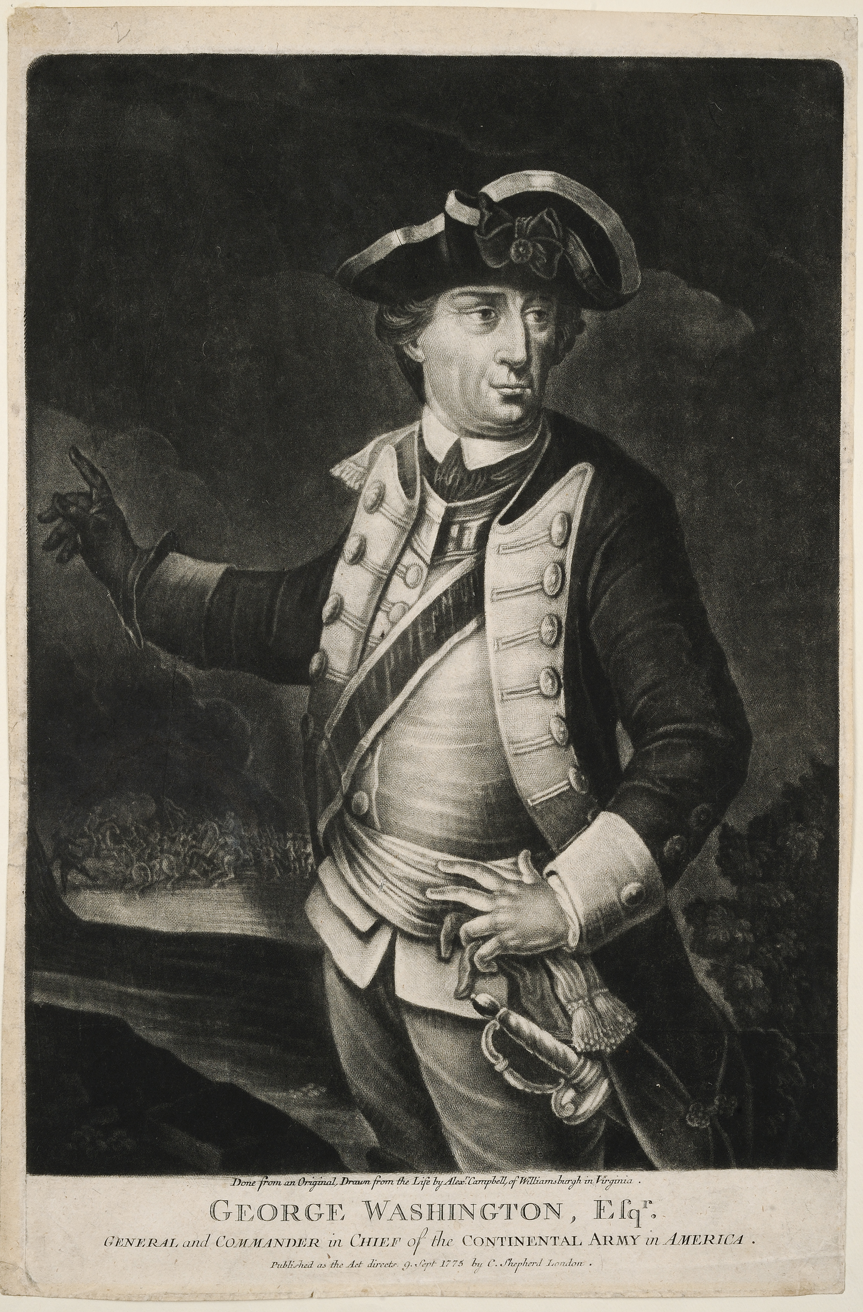 George Washington, Esqr. General and Commander in Chief of the Continental Army in America, London: C. Shepherd, 1775