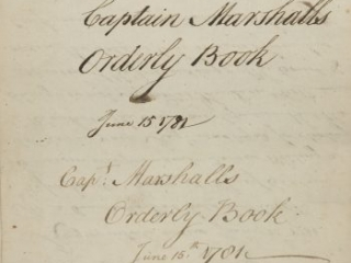 Orderly book of the Tenth Massachusetts Regiment kept by Christopher Marshall, West Point, Peekskill and New Windsor, N.Y., June 11-September 3, 1781