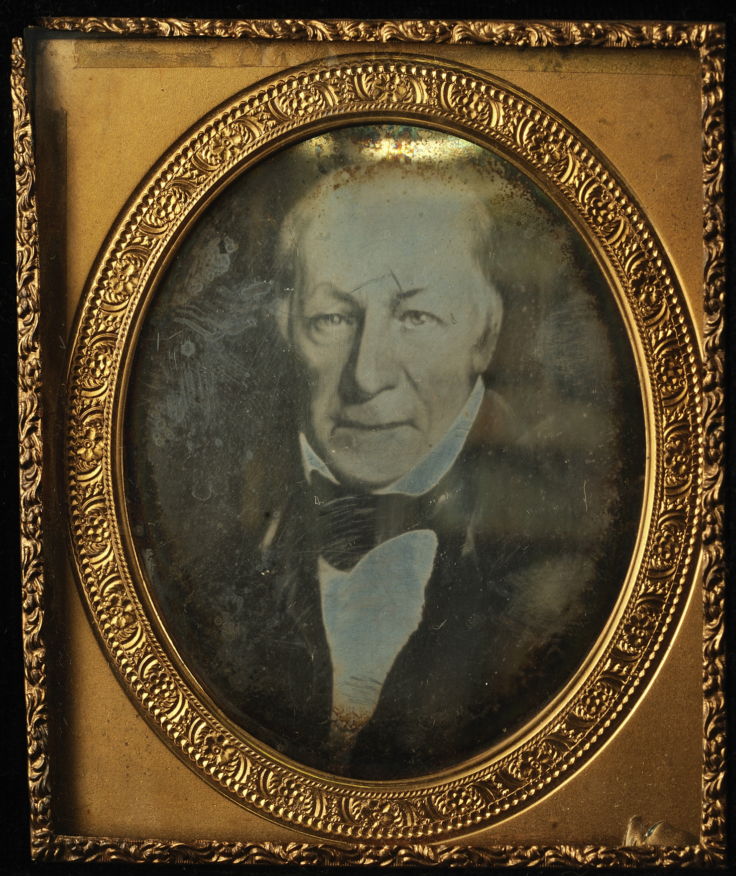 Daguerreotype of a portrait of John Richard Watrous, American, Mid-19th century