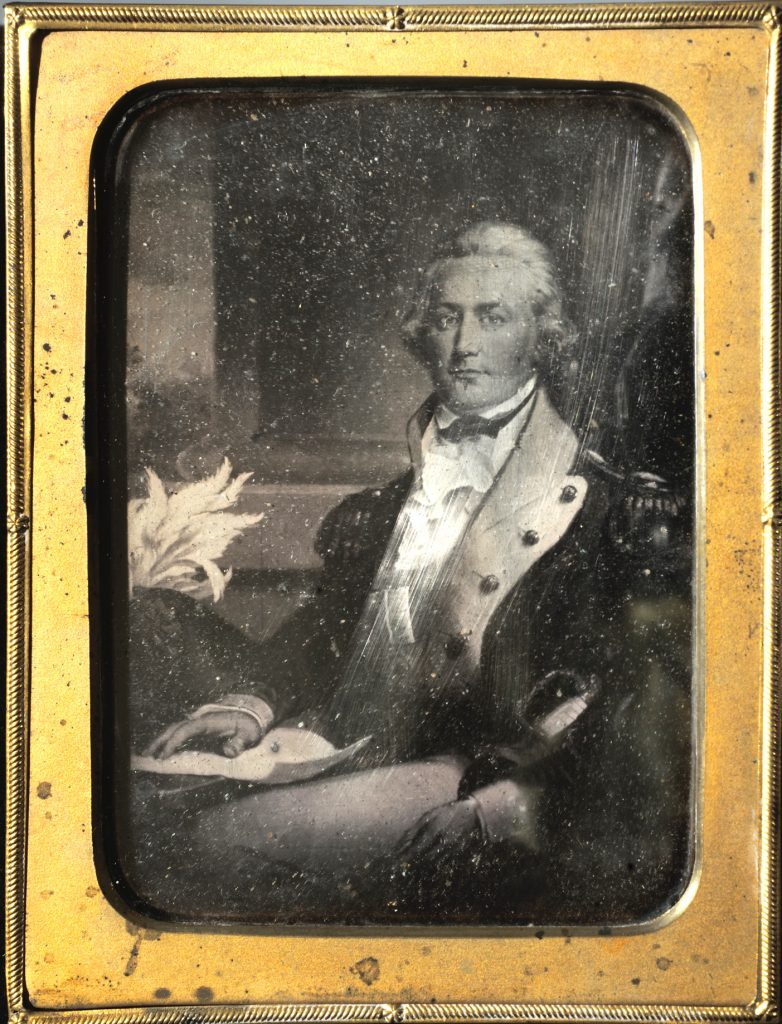 Daguerreotype of a portrait of Edward Butler, American, ca. 1845-1865