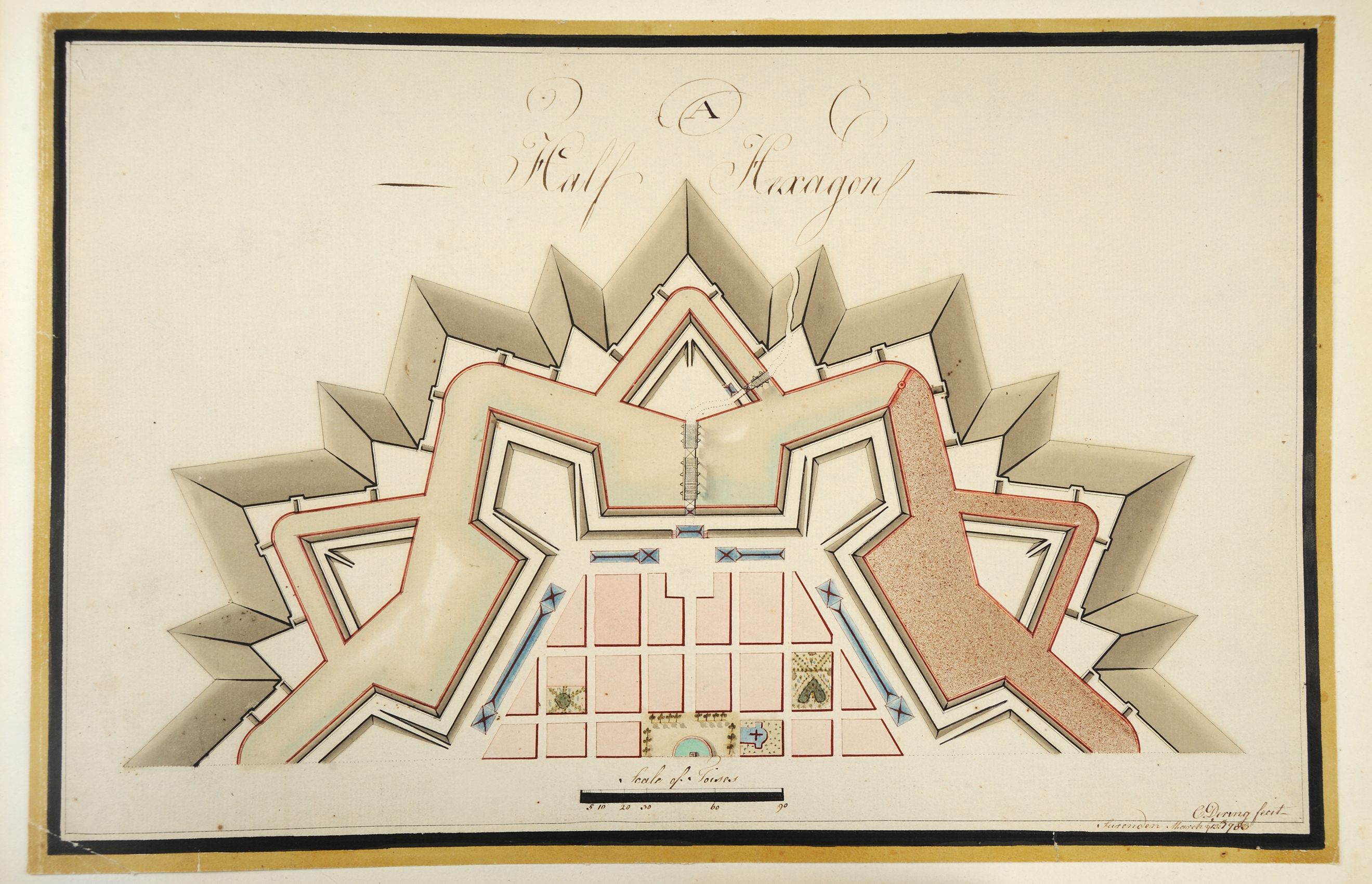 """""""A Half Hexagon,"""" Chomley Dering, 1783"""