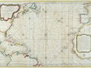 Carte Réduite de l'Ocean Occidental, Jacques-Nicholas Bellin,  Paris: Dépôt de la Marine, 1766