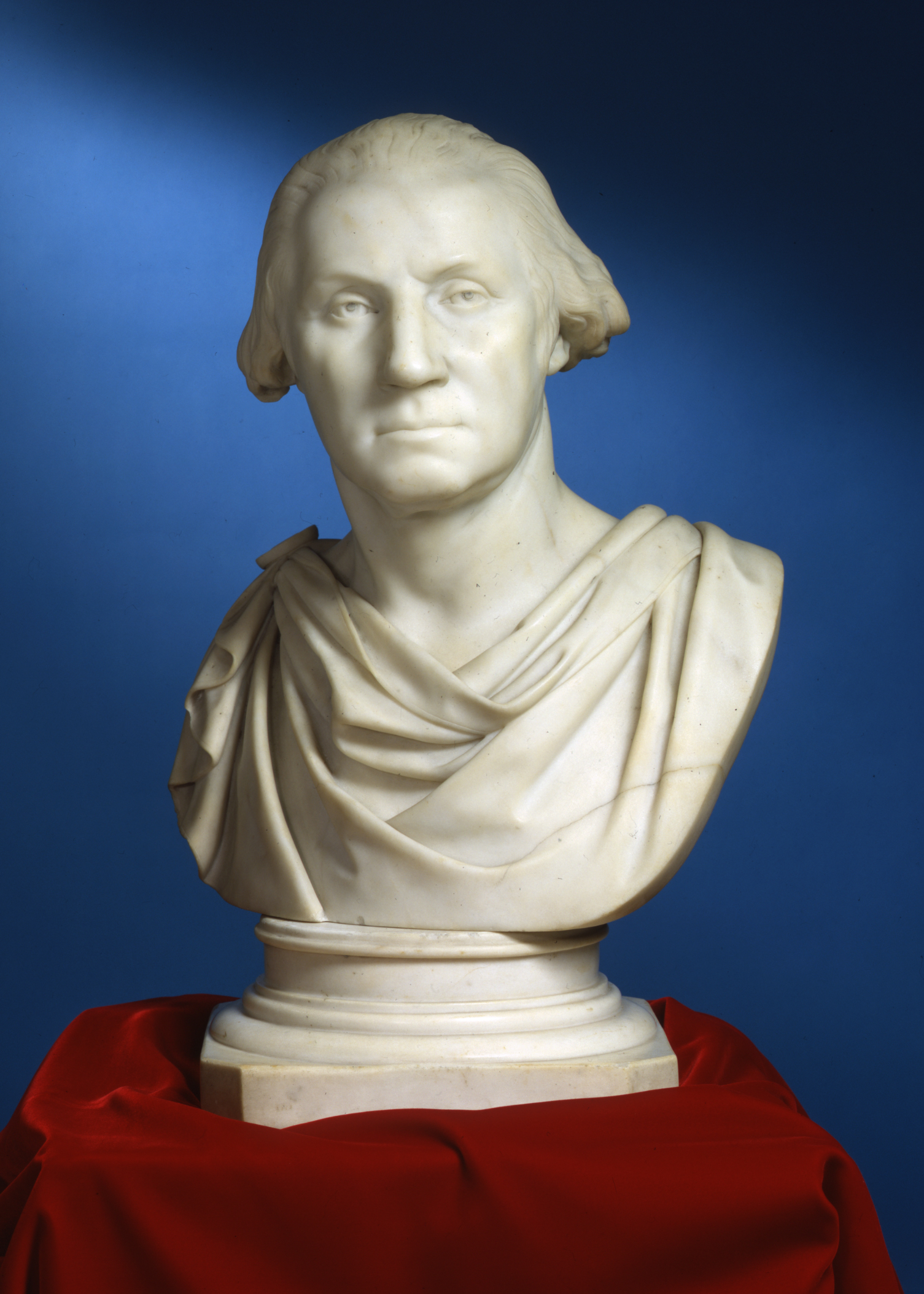 George Washington, Attributed to Thomas Crawford, sculptor; after Jean-Antoine Houdon, artist, Mid-19th century