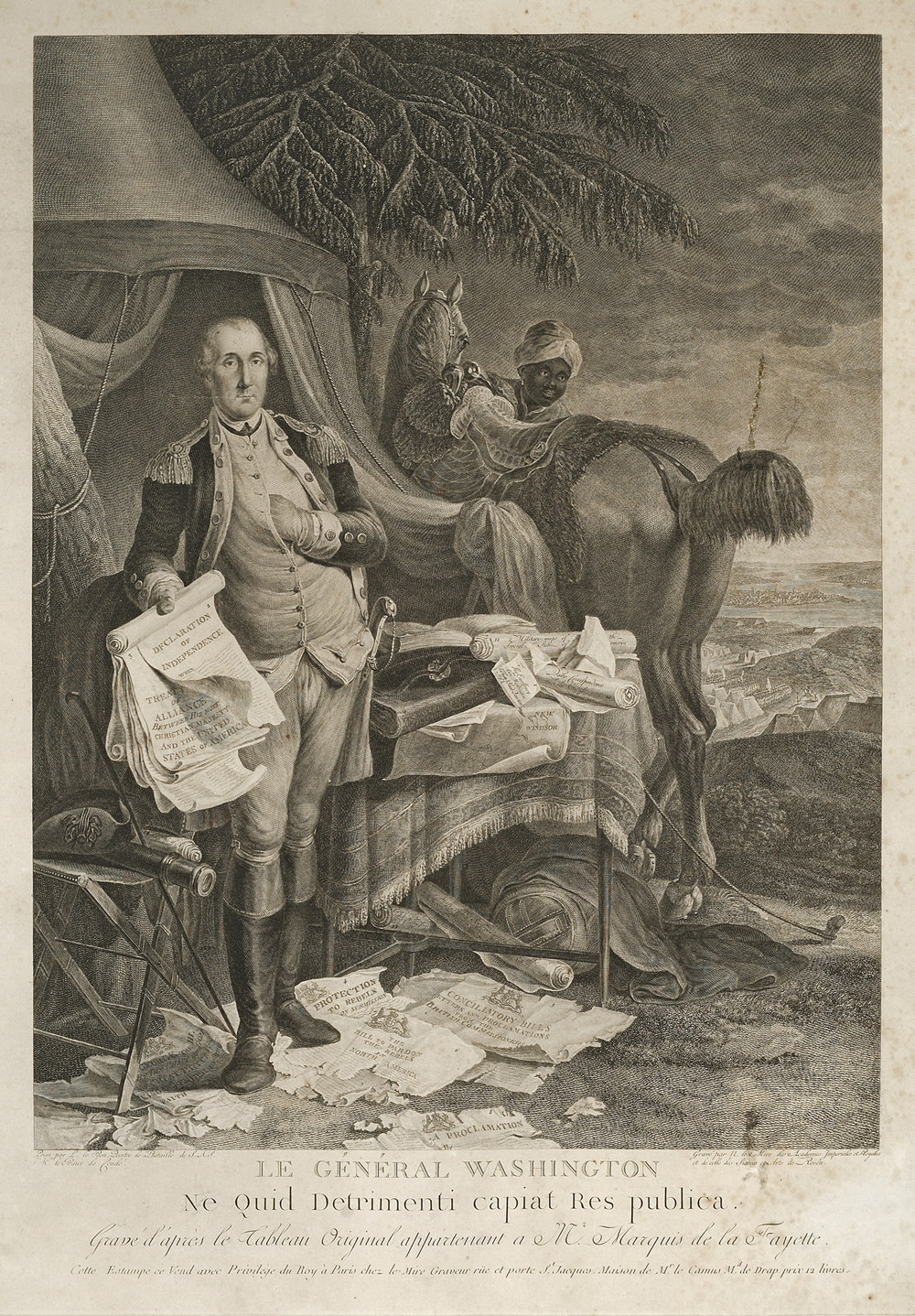 <em>Le General Washington</em> by Noël Le Mire, 1780
