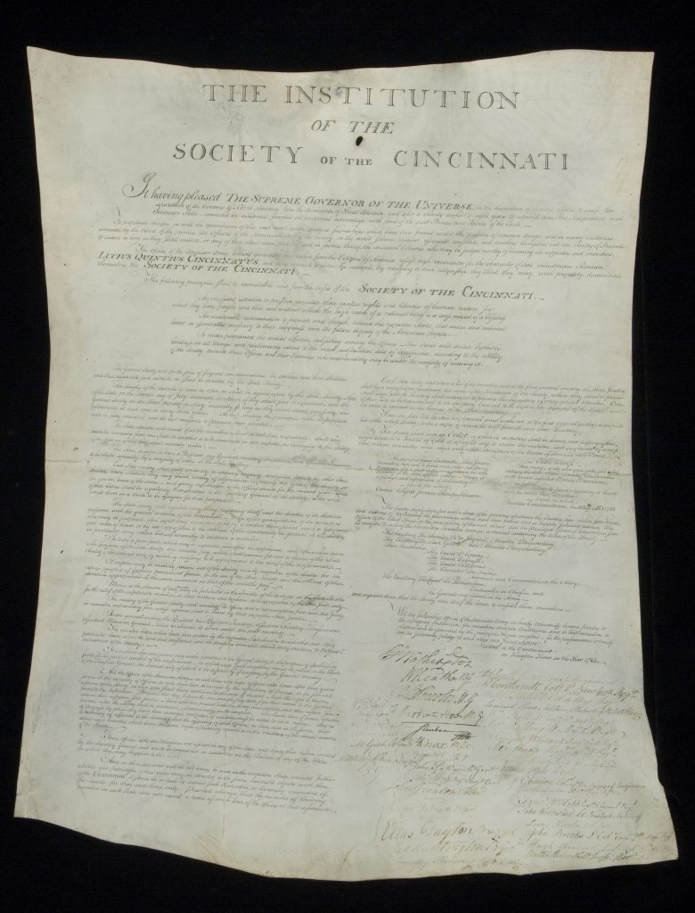 The Institution of the Society of the Cincinnati, May 1783