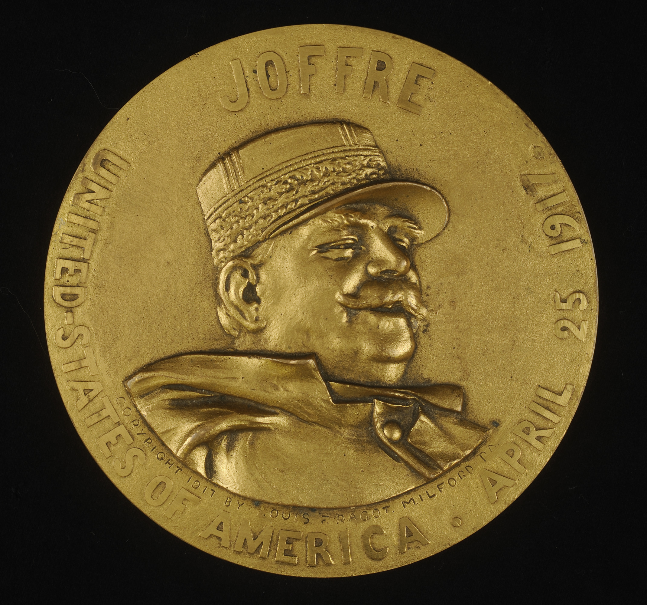 """Joffre — United States of America — April 25, 1917,""  Louis F. Ragot, Struck by the Whitehead & Hoag Company, Newark, N.J., 1917"