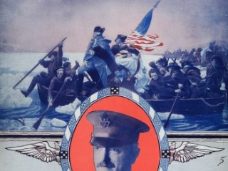 """""""Just Like Washington Crossed the Delaware, General Pershing Will Cross the Rhine,"""" Words by Howard Johnson, Music by George W. Meyer, New York: Leo Feist, Inc., 1918"""