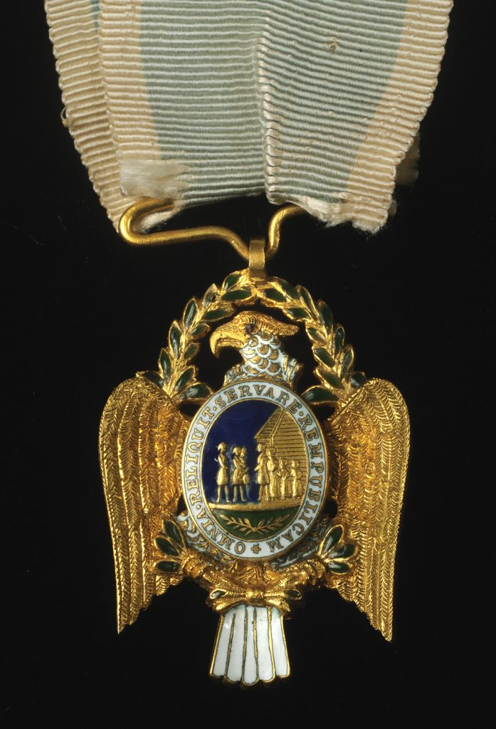 Society of the Cincinnati Eagle insignia owned by Larz Anderson, ca. 1910