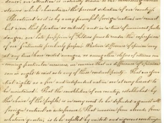 """""""To the President of the United States: The respectful Address of the Officers of the late American Army and Navy assembled in the Society of the Cincinnati of the State of New York,"""" New York State Society of the Cincinnati, 1812"""