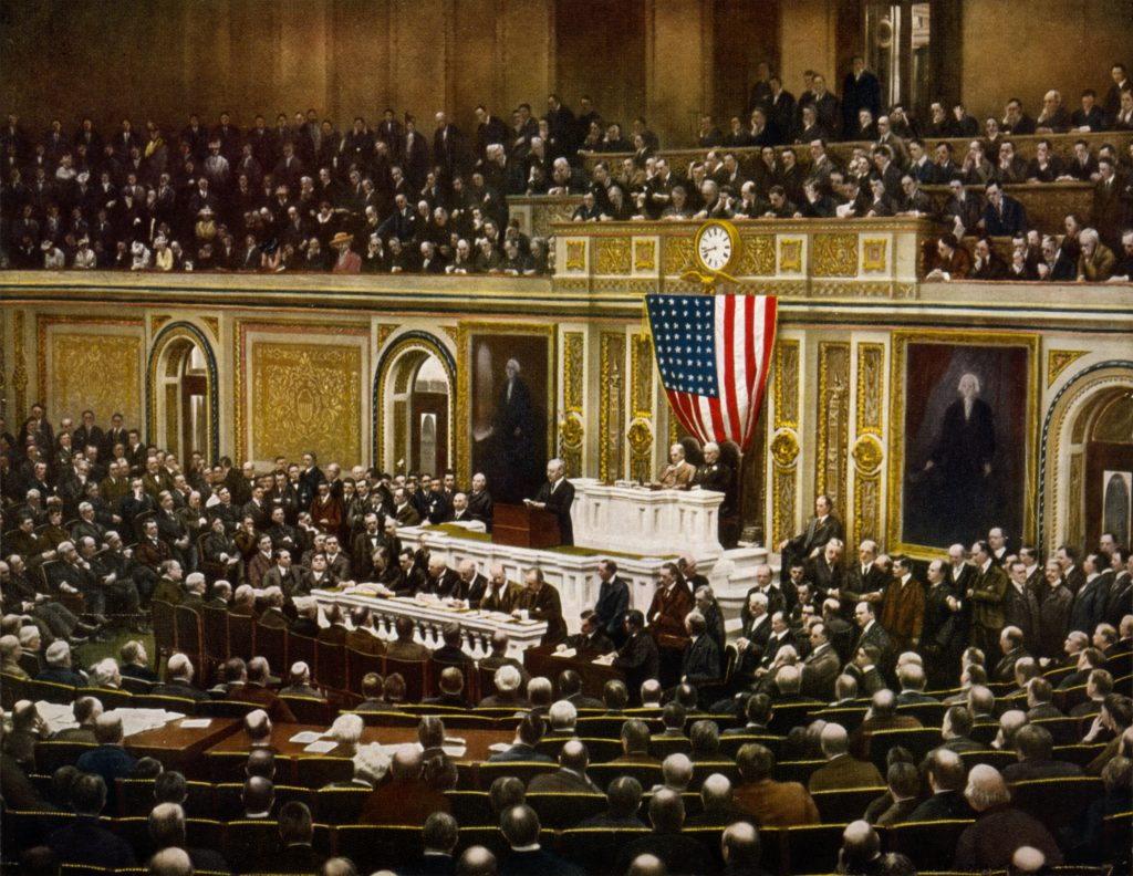 President Wilson addressing Congress, April 2, 1917