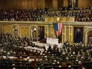 President Wilson addressing Congress, April 2, 1917