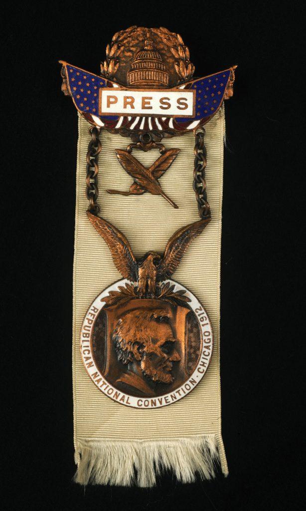 Press badge, ca. 1912