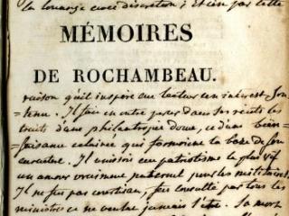 Mémoires Militaires, Historiques et Politiques de Rochambeau, Jean-Baptiste-Donatien de Vimeur, comte de Rochambeau, Edited by J.-Charles-J. Luce de Lancival, 2 volumes, Paris: Chez Fain, 1809