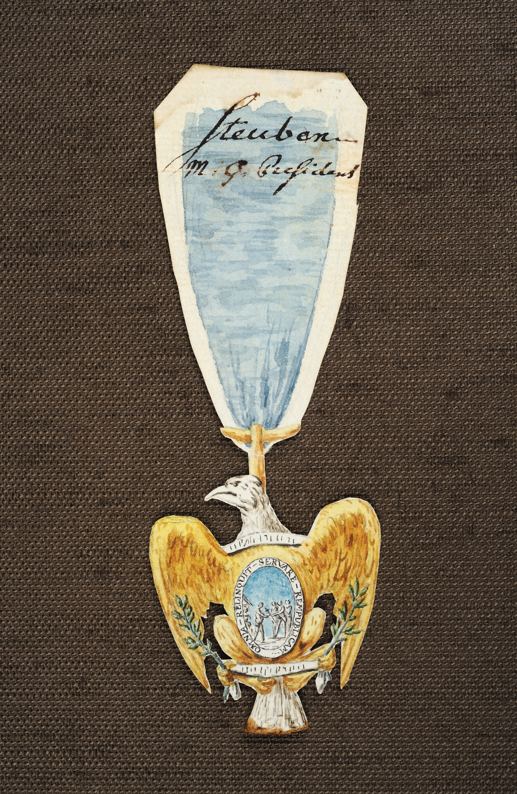 Sketch for the Eagle of the Society of the Cincinnati, Pierre-Charles L'Enfant, June 1783