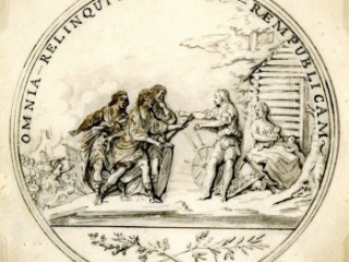 Sketch for the Society of the Cincinnati medal, Pierre-Charles L'Enfant, June 1783