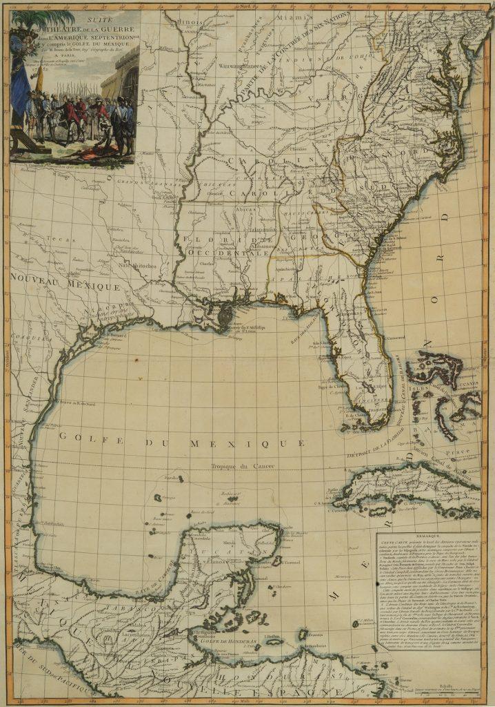 Suite du Théâtre de la Guerre dans l'Amérique Septentrionale y Compris le Golfe du Méxique, Louis Brion de la Tour, Paris: Chez Esnauts et Rapilly, 1782