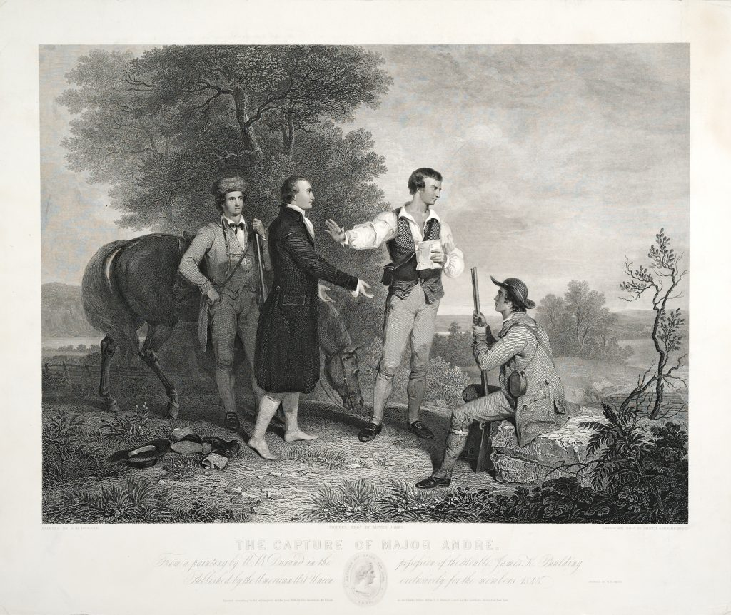 The Capture of Major Andre, Alfred Jones, James Smillie and Robert Hinshelwood, engravers; after Asher Brown Durand, artist, New York: Published by the American Art Union, 1845
