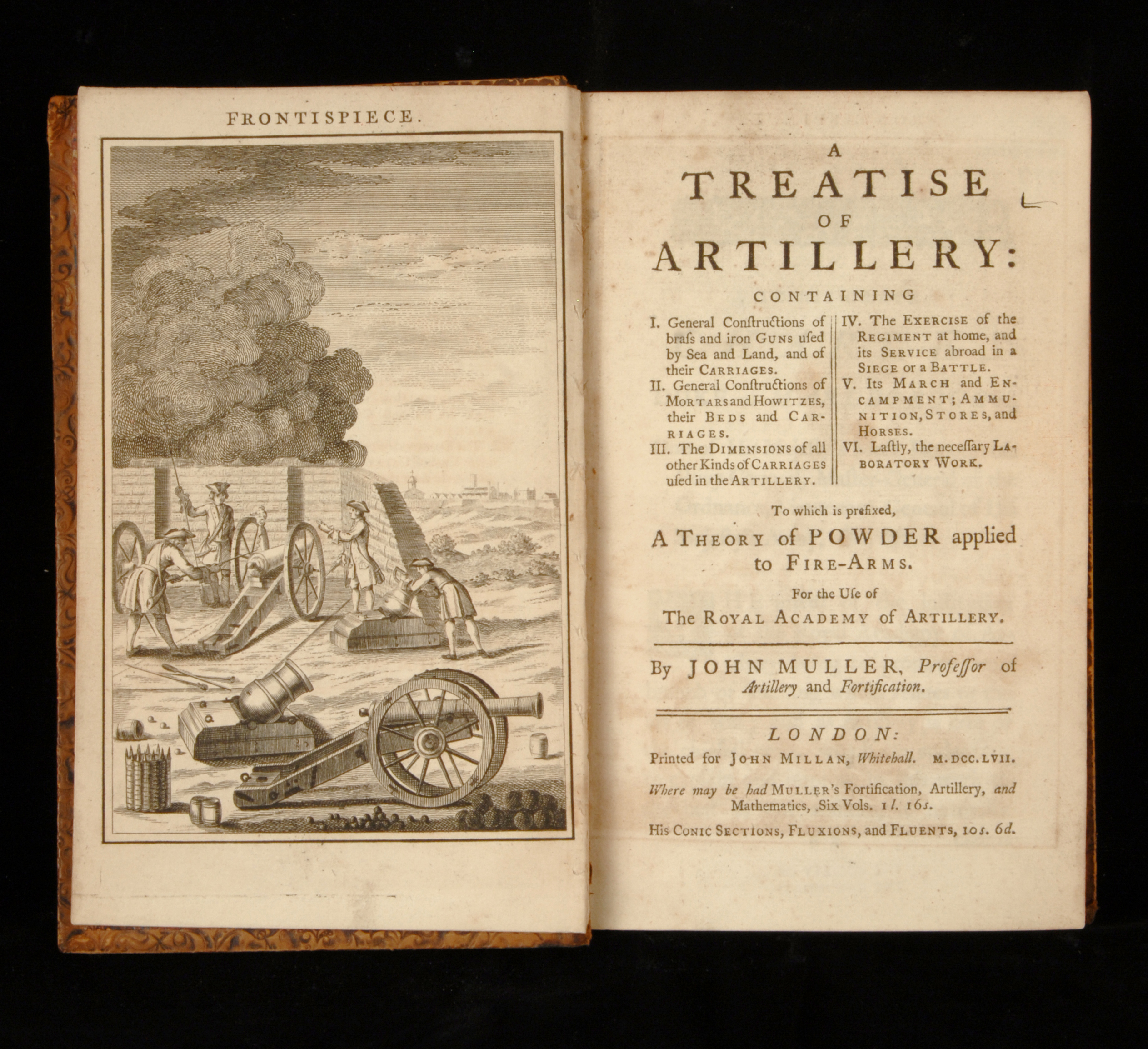 A Treatise of Artillery, John Muller, London: Printed for John Millan, 1757