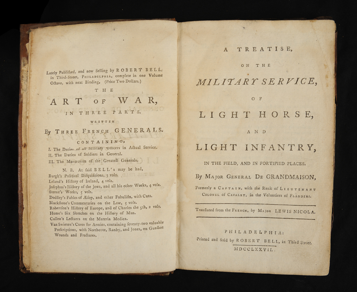<em>A Treatise on the Military Service of Light Horse and Light Infantry</em> by Thomas Auguste le Roy de Grandmaison, 1777