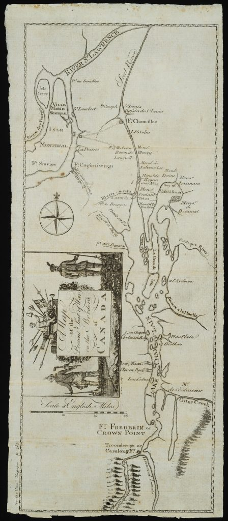 A Map of the Present Seat of War on the Borders of Canada, Robert Aitken, Philadelphia: Robert Aitken, 1775