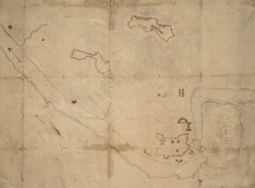 Manuscript map of West Point attributed to Capt. Andrew Engle, ca. 1779