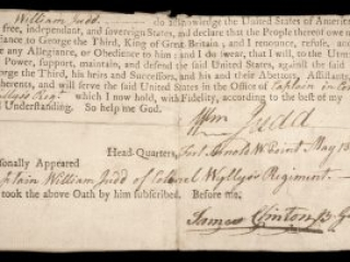 Oath of allegiance to the United States, May 13, 1778