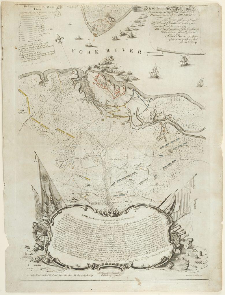 Plan of the Investment of York and Gloucester, Sebastian Bauman, Philadelphia, 1782