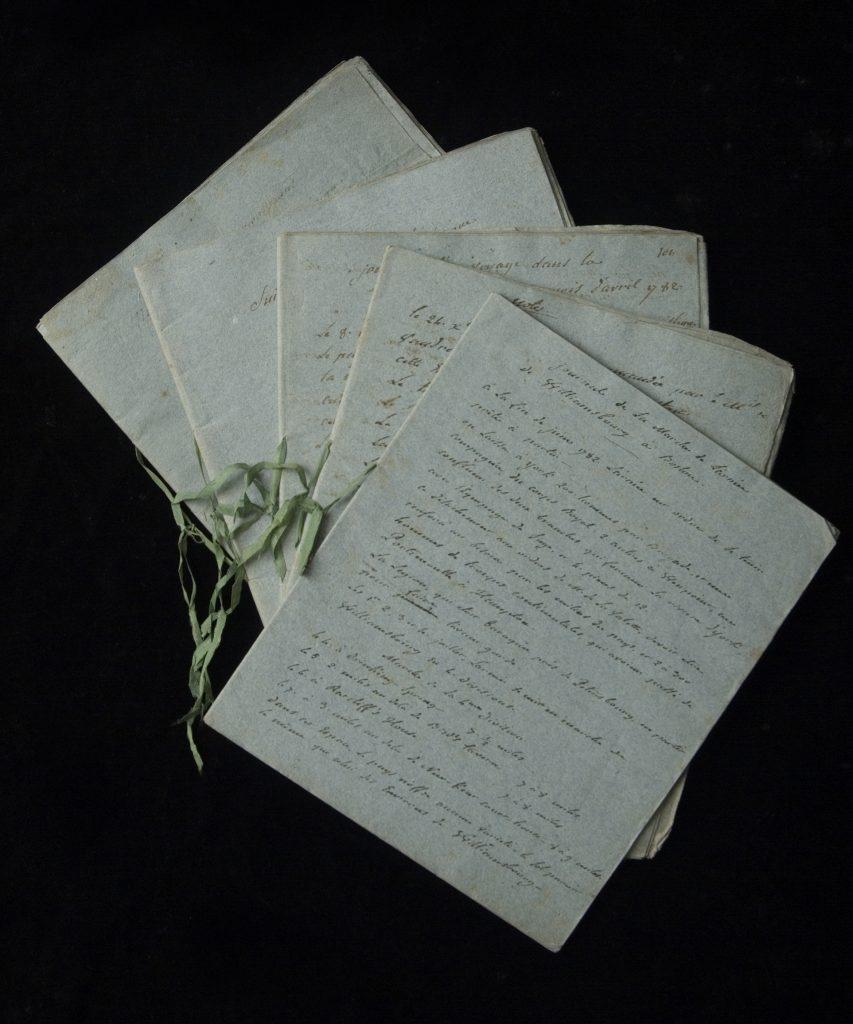 """""""Notes relatives aux mouvemens de l'armee françoise en Amerique,"""" François-Ignace Ervoil d'Oryé, Late 18th century"""