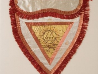 Scottish Rite Lodge of Perfection Masonic apron owned by Richard Clough Anderson, ca. 1815-1825