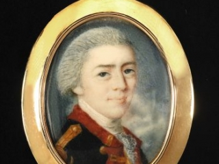 Benjamin Flower portrait miniature, ca. 1778-1780