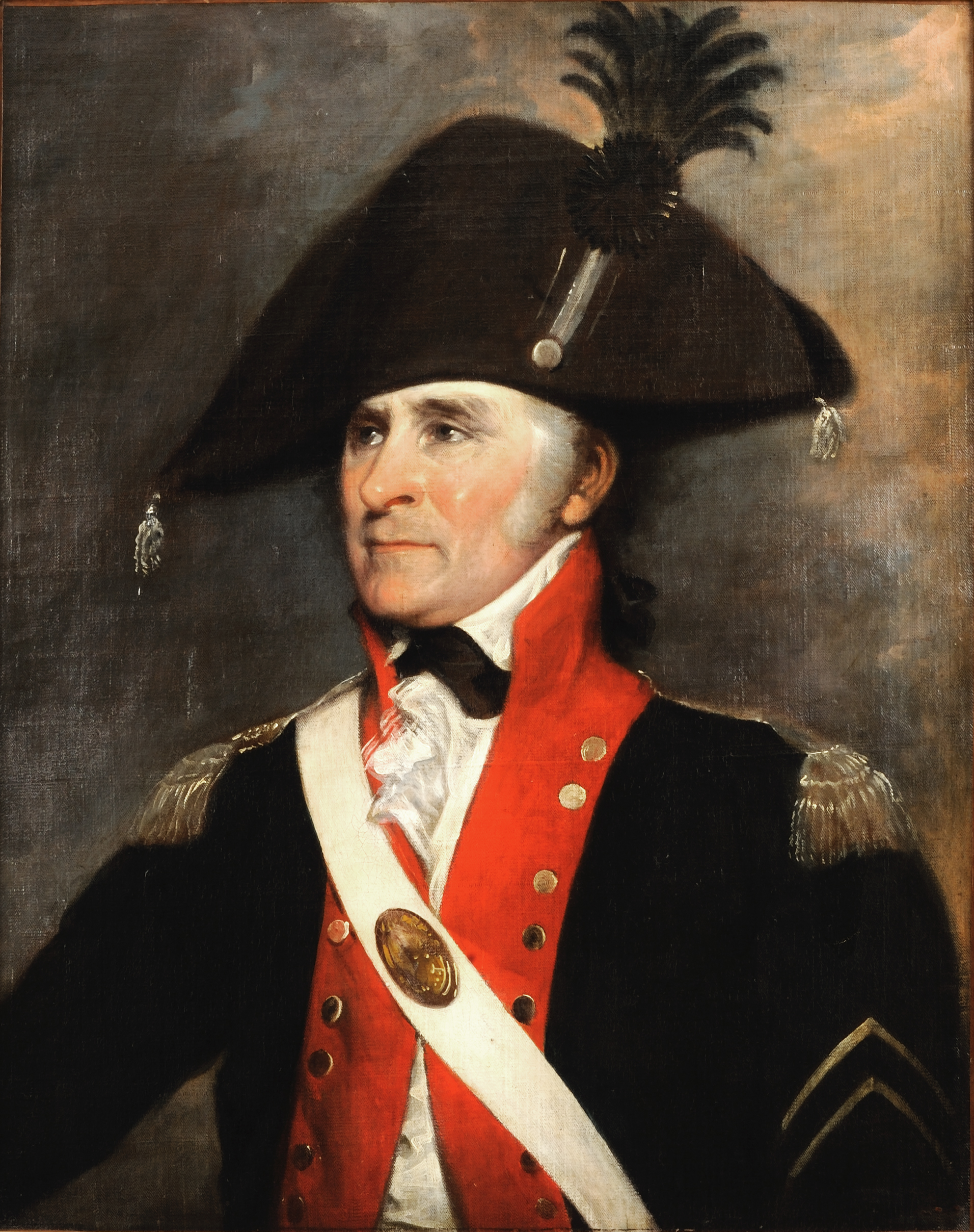 Bryan Rossiter was a New York City fruit seller and sergeant at arms of the New York State Society of the Cincinnati when John Trumbull painted this portrait of him.