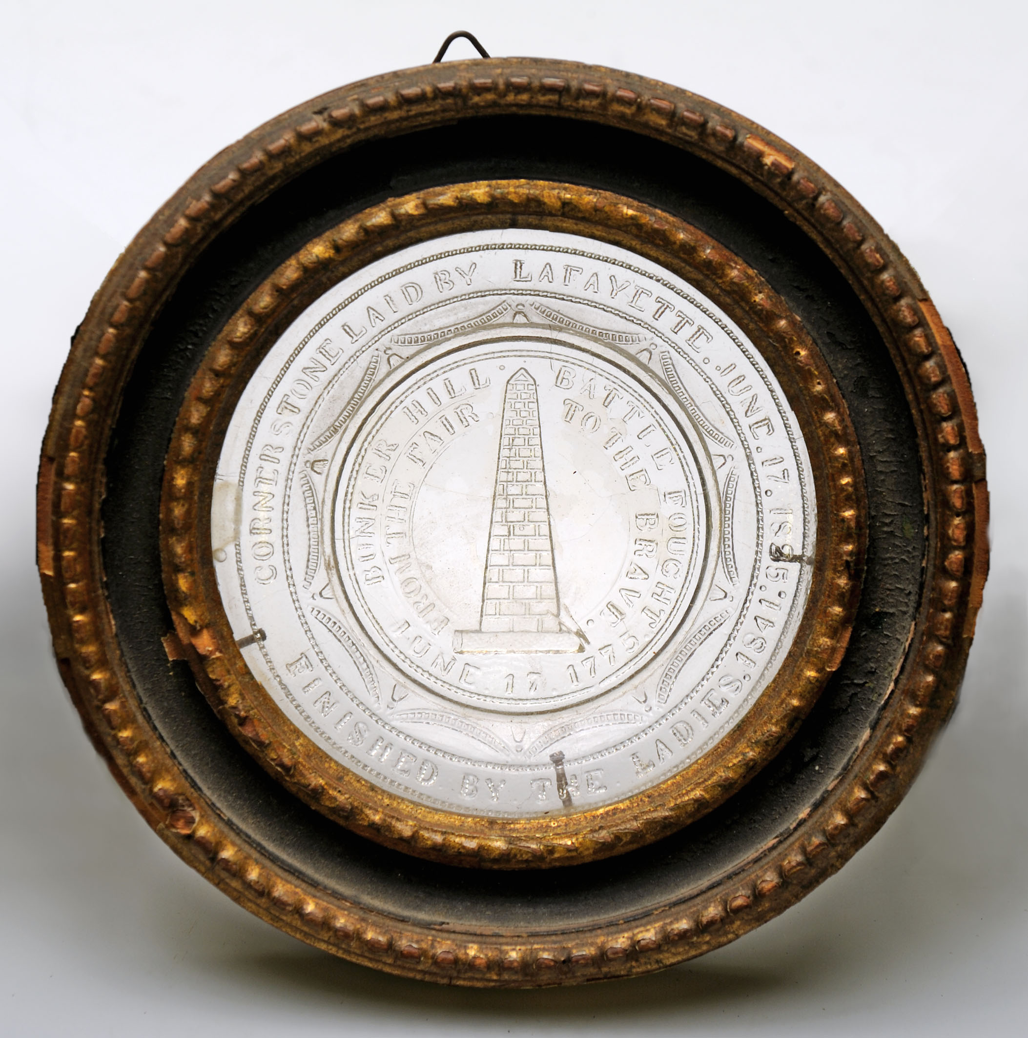 Bunker Hill monument cup plate, ca. 1841