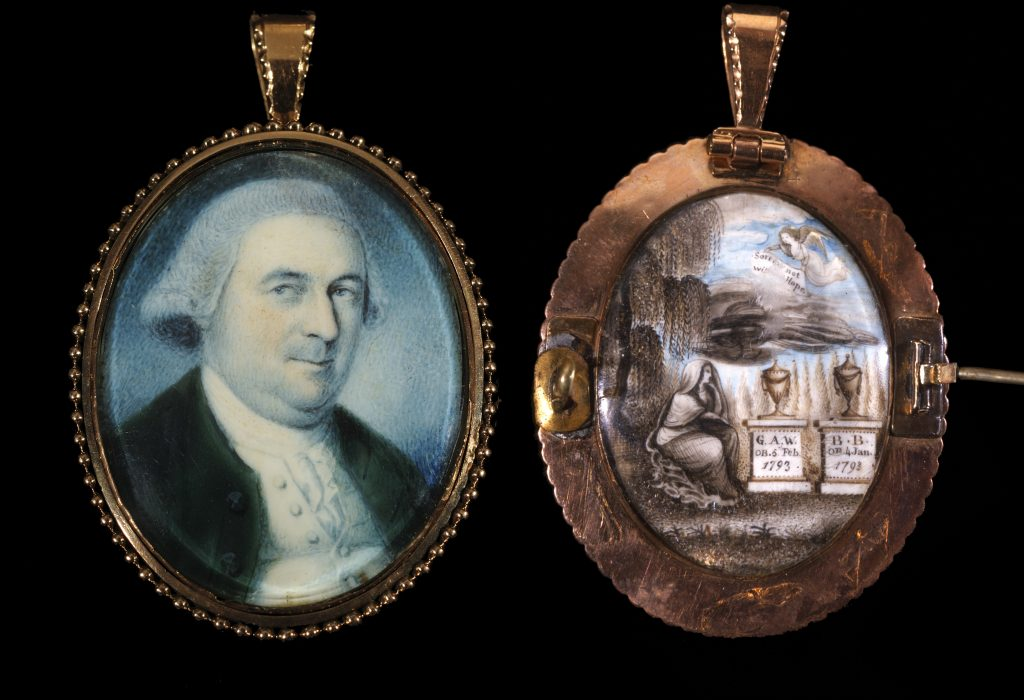 Burwell Bassett portrait miniature by Charles Willson Peale, 1778-1793