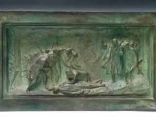Death of Warren at Bunker Hill sculpture by Bartlett