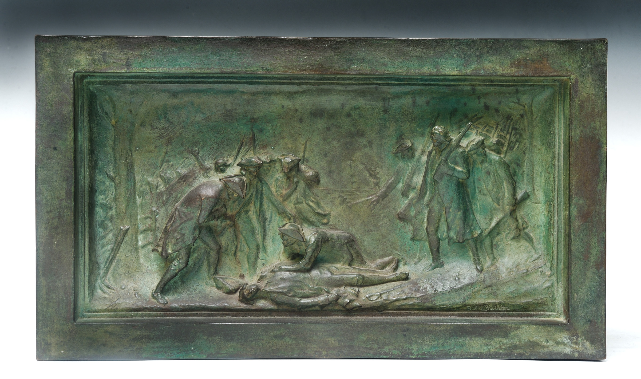 Death of Warren at Bunker Hill sculpture by Bartlett