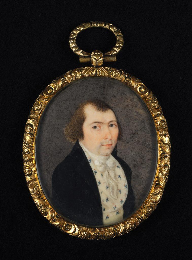 Frederick Weissenfels portrait miniature, ca. 1770-1775
