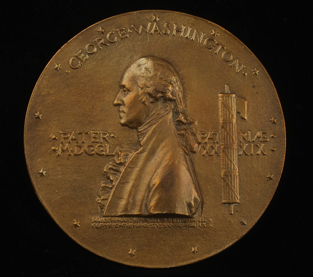 George Washington inauguration medal, 1889