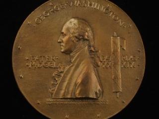 George Washington inauguration medal, 1889