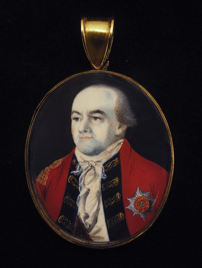 Henry Clinton portrait miniature by John Ramage, ca. 1778-1782