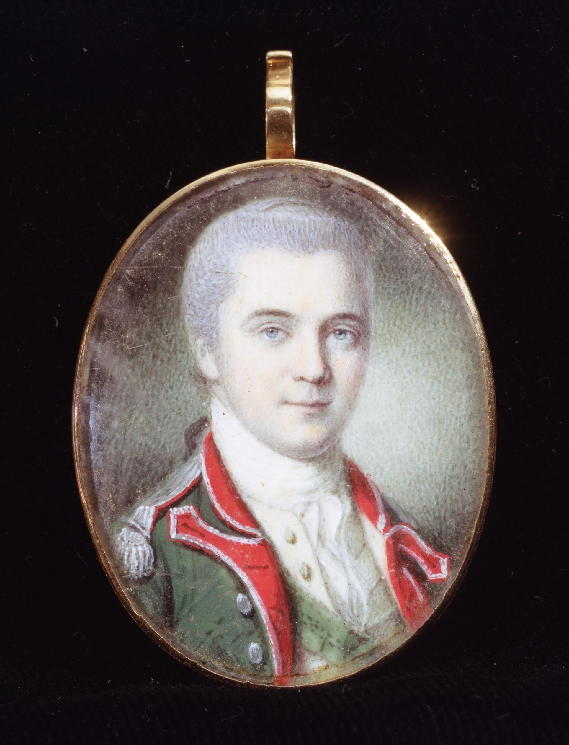 James Hamilton portrait miniature by Charles Willson Peale, ca. 1778-1779
