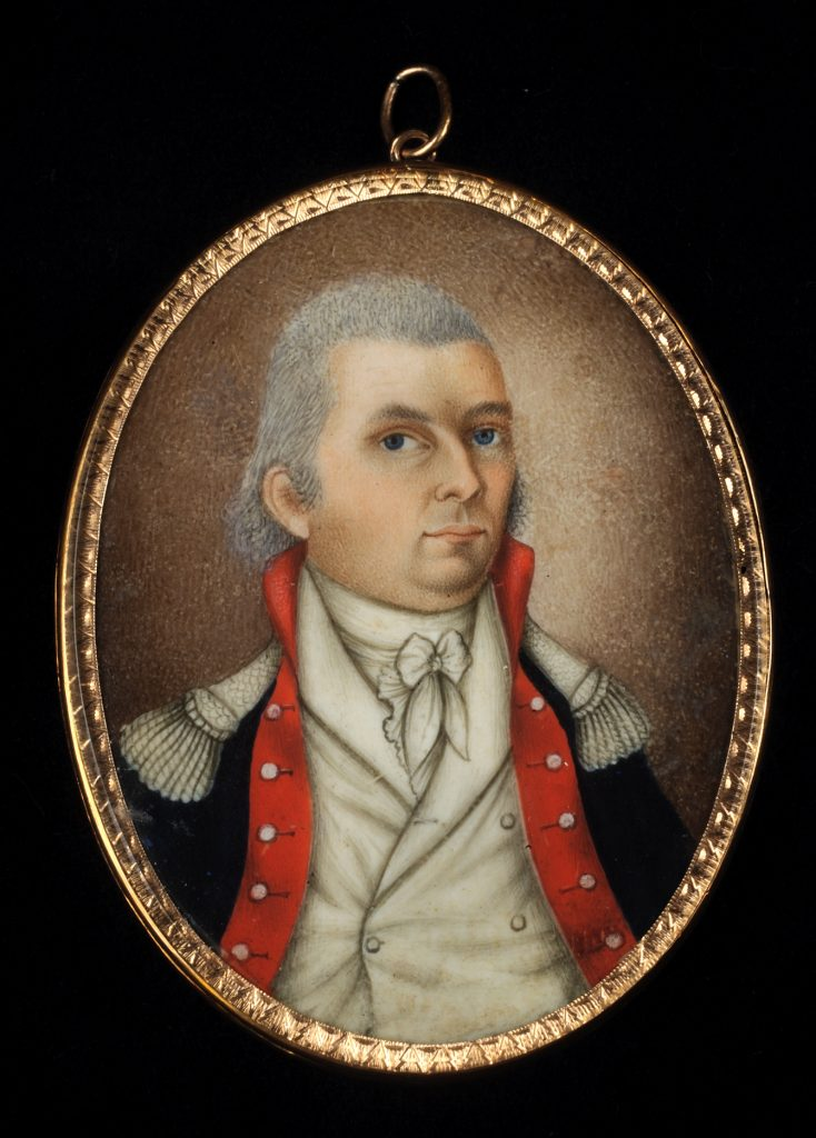 John Hutchinson Buell portrait miniature attributed to Isaac Sanford, ca. 1793-1799