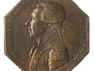 Marquis de Lafayette commemorative medal by Dumarest, 1789