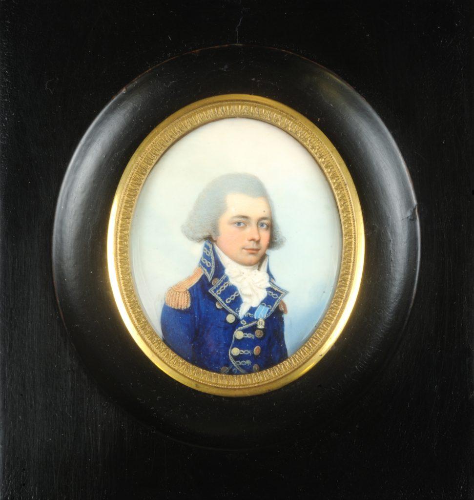 Comte de Lauberdiere portrait miniature by Adam Buck, 1790