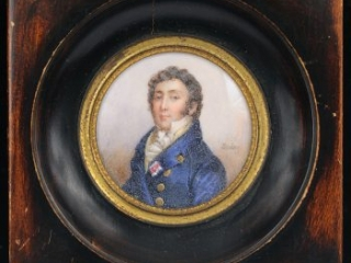 Duc de Montmorency-Laval portrait miniature by Jean-Baptiste Isabey, late 18th-early 19th century